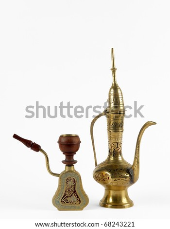 some oriental object in still life