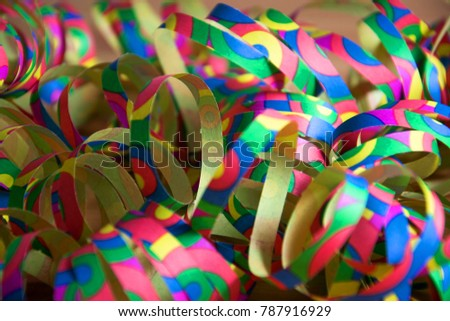 some paper streamers