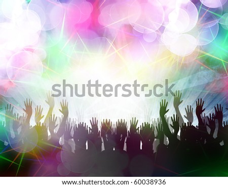 some party people at the local disco - stock photo