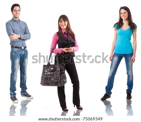Some people in casual cloths - stock photo