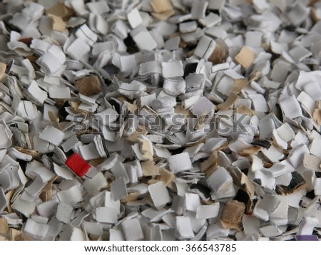 Some quantity of small paper shedder