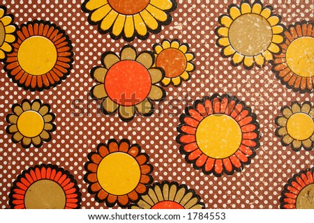 Some 70s pattern. - stock photo