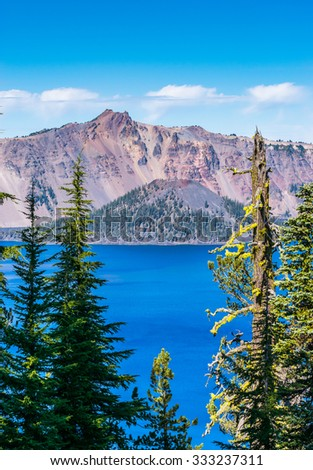 some scenic view in Crater Lake national park,Oregon,USA. - stock photo