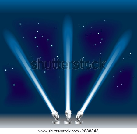 Some search/ spotlights.  Raster version - stock photo