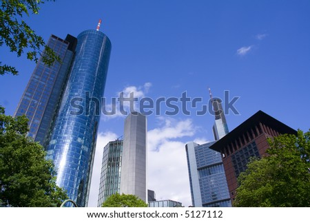 Some Skyscrapers in City Frankfurt, Germany