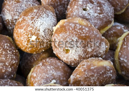 some sweets in background - stock photo