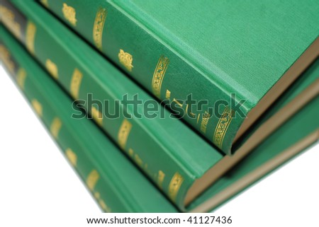 Some thick books - stock photo