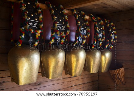 Some traditional cowbells in Austria