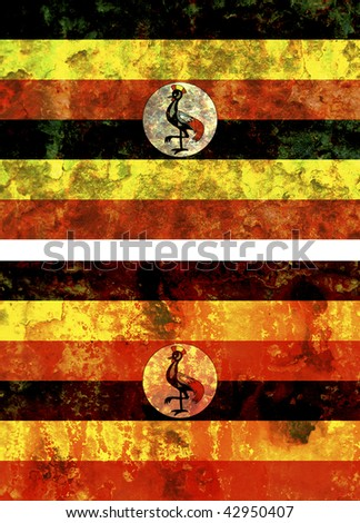 some very old grunge flag of uganda