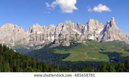 Some views of Dolomiti Alps Italy