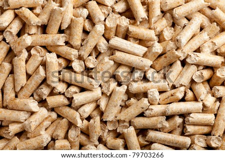 some wood pellets forming a background pattern - stock photo