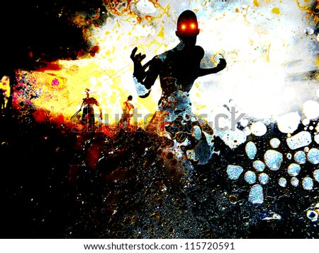 Some zombie figures - stock photo