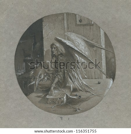Somebody with wings - stock photo