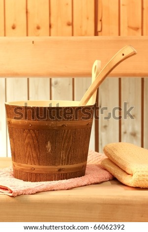 something to relax in a sauna - stock photo