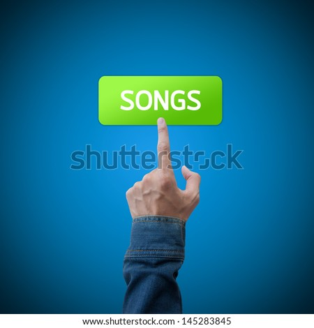 Song button with real hand