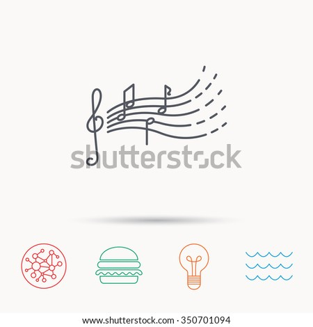 Songs Kids Icon Musical Notes Melody Stock Illustration 350701094