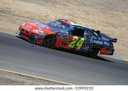 Sonoma, California, June 12, 2008: Jeff Gordon at Save Mart 350 at Infineon Raceway in Sonoma.