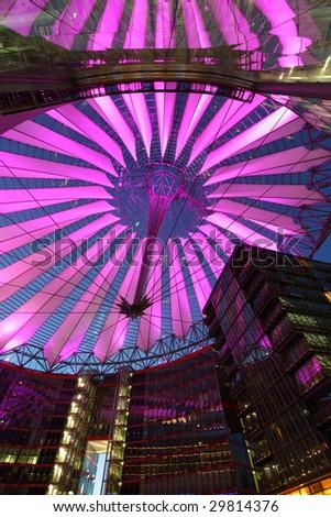 Sony center in Potsdamer Platz in Berlin, Germany - stock photo