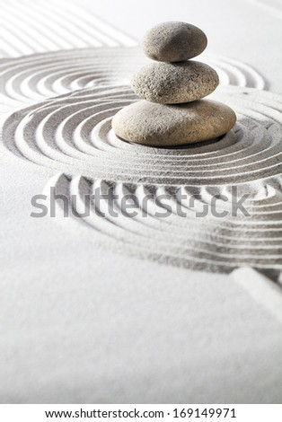 soothing exercise with zen contemplation - stock photo