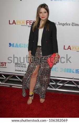 "Sophia Bush at the Los Angeles Film Festival Closing Night Gala Premiere ""Magic Mike,"" Regal Cinemas, Los Angeles, CA 06-24-12 - stock photo"