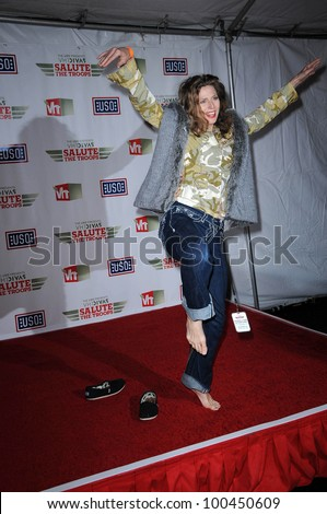 Sophie B. Hawkins  at VH1 Divas Salute The Troops, Marine Corps Air Station Miramar, San Diego, CA. 12-03-10 - stock photo
