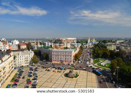 Sophievskaya Square in Kiev, Ukraine - stock photo