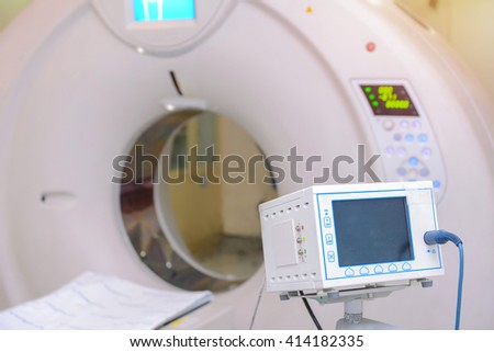 sophisticated of MRI Scanner medical equipments in hospital. - stock photo