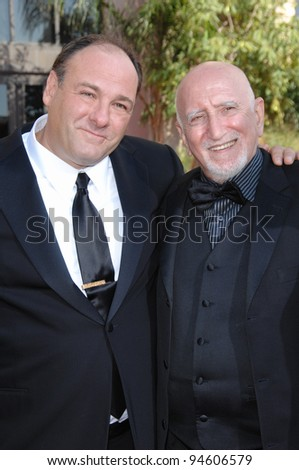 Sopranos stars James Gandolfini (left) with Dominic Chianese at the 59th Primetime Emmy Awards at the Shrine Auditorium. September 16, 2007 Los Angeles, CA Picture: Paul Smith / Featureflash