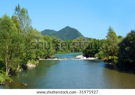 Sora river, Slovenia, Europe