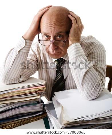Sorrow of old accountant