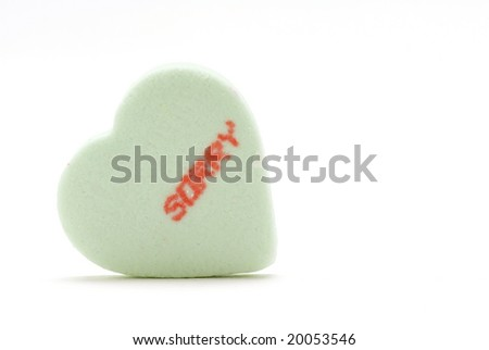 Sorry - Candy Heart - stock photo