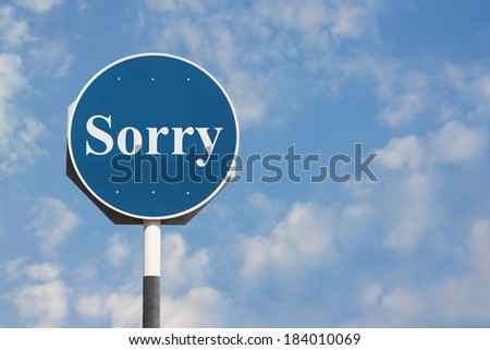 Sorry Sign - stock photo
