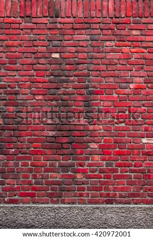 Sorted old red brick wall textures and background - stock photo