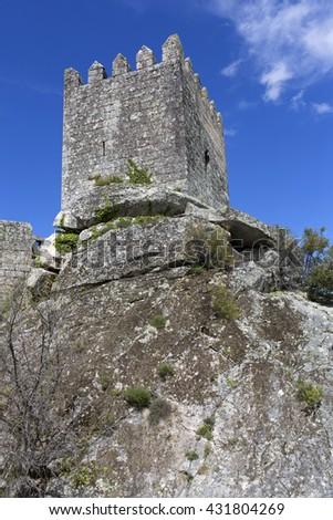 Sortelha Castle, Historic village near Covilha, Portugal - stock photo