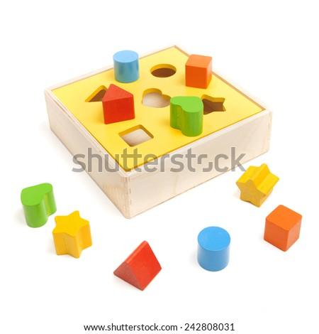 sorter child toy on the white - stock photo