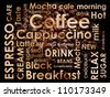 sorts of coffee background - stock vector