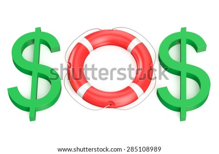sos business concept isolated on white background - stock photo