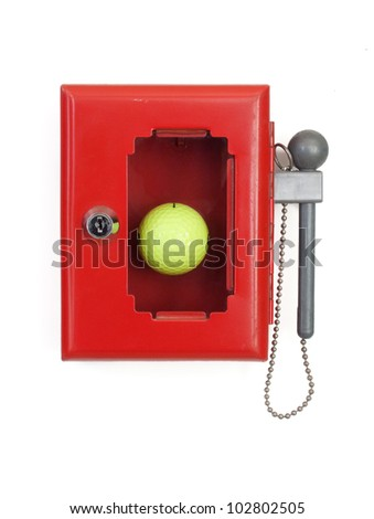 SOS golf - stock photo