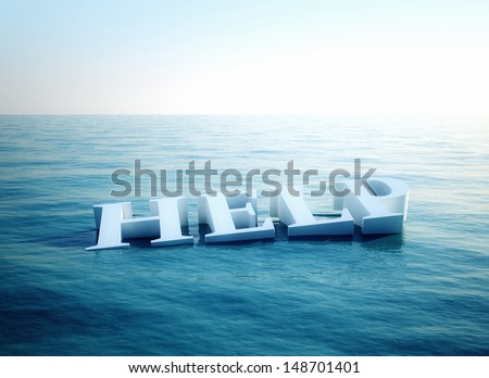 sos help 3d conceptual image  - stock photo