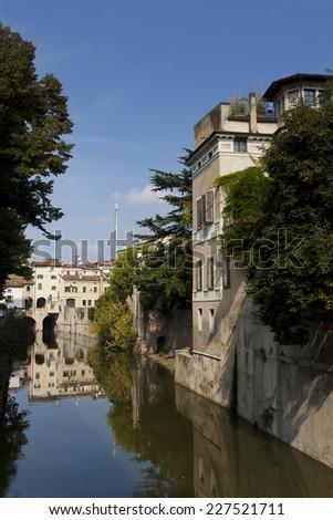 Sottoriva river, Mantova, Lombardy, Italy - stock photo