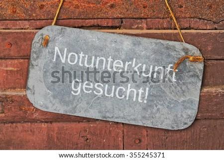 sought shelter - stock photo