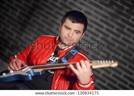 Soulful guitar player
