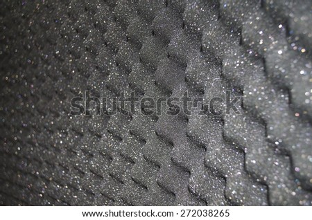 Sound absorber - stock photo