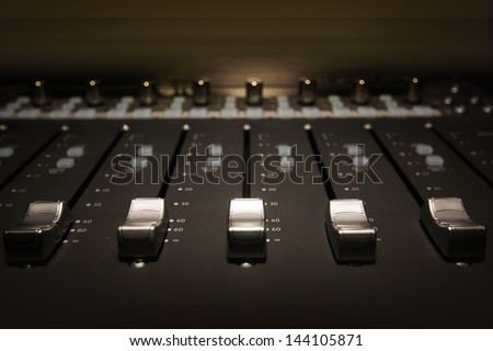 Sound Board - stock photo