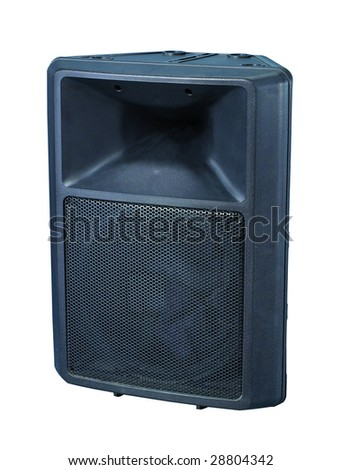 Sound box in white background