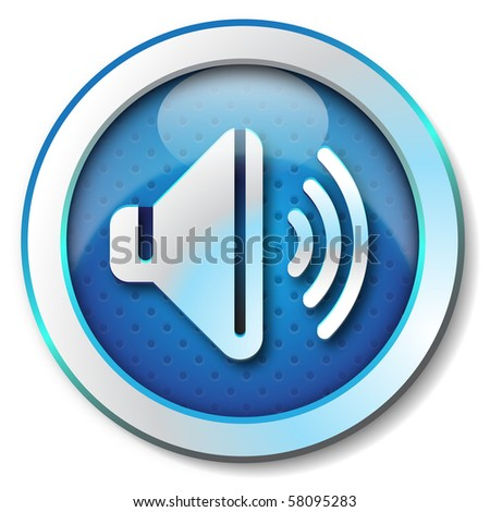 Sound icon - stock photo