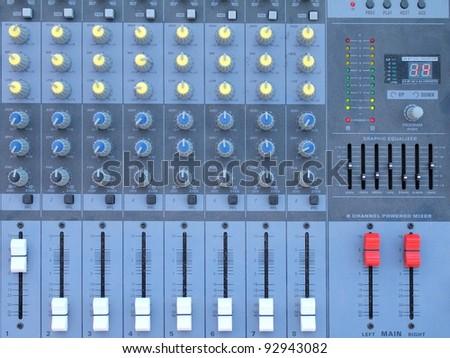 Sound mixer Closeup - stock photo