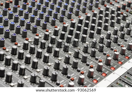 Sound mixer, useful for various music and sound themes - stock photo