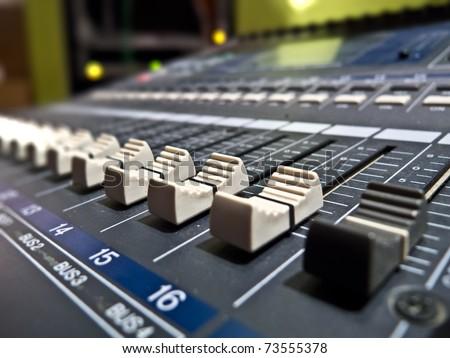 Sound mixing device - stock photo