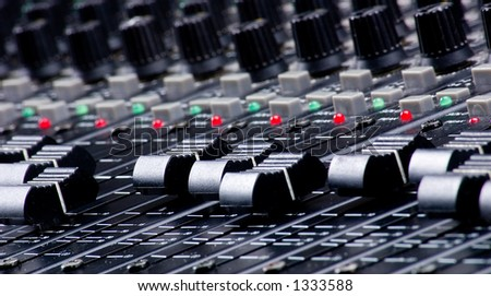 Sound Mixing Faders - stock photo